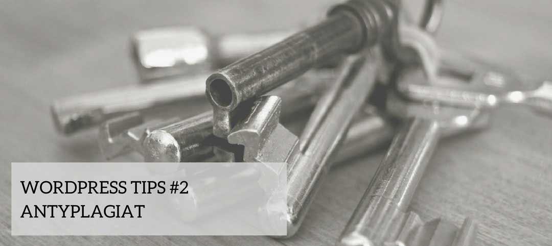 Wordpress Tips #2 - antyplagiat