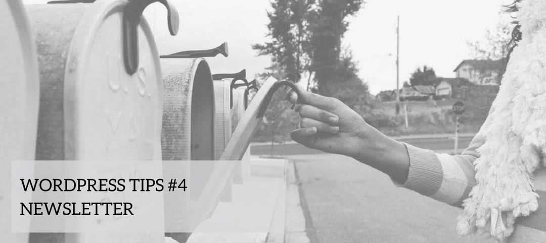 WordPress Tips #4 – newsletter