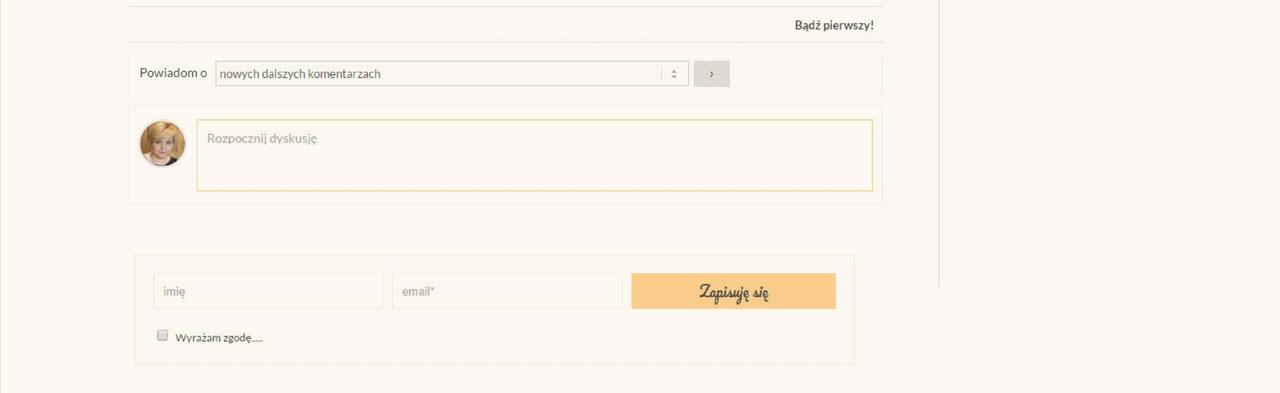 formularz pod wpisem